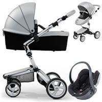 Wózek 3w1 MIMA XARI 3G ARGENTO  + fotelik BeSafe iZi GO