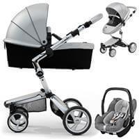 Wózek 3w1 MIMA XARI 3G ARGENTO + fotelik Maxi Cosi PEBBLE PRO