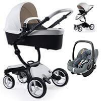 Wózek 3w1 MIMA XARI 3G SNOW WHITE + fotelik Maxi Cosi PEBBLE PRO