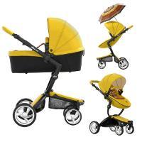 Wózek dziecięcy 2w1 MIMA XARI Yellow + akcesoria