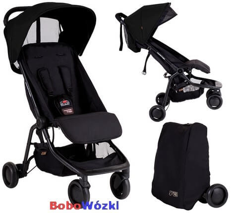 MOUNTAIN BUGGY NANO wózek spacerowy + TORBA TRANSPORTOWA 1