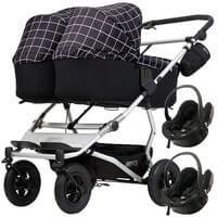 Wózek 3w1 bliźniaczy MOUNTAIN BUGGY DUET 3 + 2 foteliki BeSafe iZi GO MODULAR i-Size