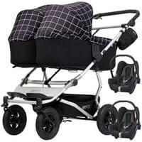 Wózek 3w1 bliźniaczy MOUNTAIN BUGGY DUET 3 + 2 foteliki Maxi Cosi CABRIO FIX