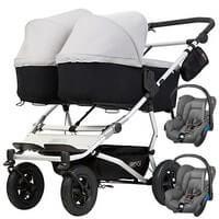 Wózek 3w1 bliźniaczy MOUNTAIN BUGGY DUET 3 + 2 foteliki Maxi Cosi CITI