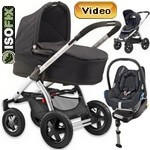 MURA 4 (zestaw 4w1) w�zek spacerowy + gondola + fotelik Maxi Cosi CABRIO FIX + baza do auta EASY FIX