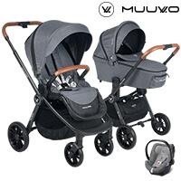Wózek 3w1 MUUVO QUICK + fotelik Cybex ATON 5