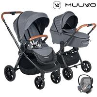 Wózek 3w1 MUUVO QUICK + fotelik Cybex ATON M