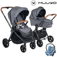 Wózek 3w1 MUUVO QUICK + fotelik Maxi Cosi CABRIO FIX