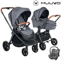Wózek 3w1 MUUVO QUICK + fotelik Maxi Cosi CITI
