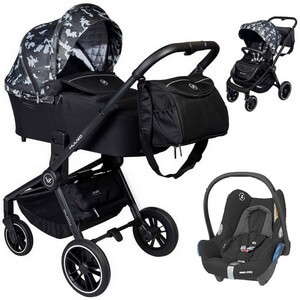 Wózek 3w1 Muuvo QUICK Trendy Edition + fotelik Maxi Cosi CABRIO FIX