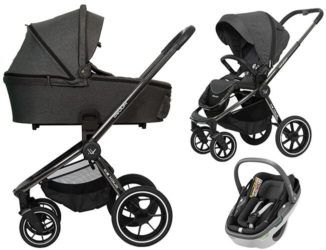 Wózek 3w1 Muuvo QUICK 2.0 Chrome + fotelik Maxi Cosi Coral 1
