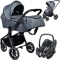 Wózek 3w1 MUUVO QUICK 2.0 + fotelik Maxi Cosi PEBBLE PRO i-Size