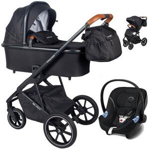 Wózek dziecięcy 3w1 Muuvo SLICK + fotelik samochodowy Cybex ATON M