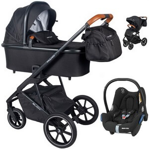 Wózek dziecięcy 3w1 Muuvo SLICK + fotelik samochodowy Maxi Cosi CABRIO FIX