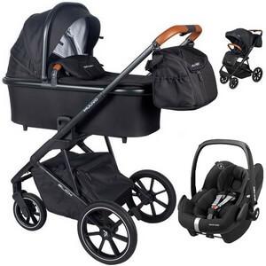 Wózek dziecięcy 3w1 Muuvo SLICK + fotelik samochodowy Maxi Cosi PEBBLE PRO