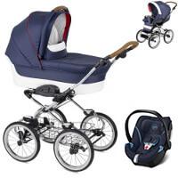 Wózek dziecięcy 3w1 NAVINGTON Caravel + fotelik Cybex ATON 5