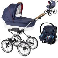 Wózek dziecięcy 3w1 NAVINGTON CARAVEL + fotelik Cybex ATON M
