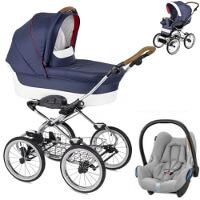 Wózek dziecięcy 3w1 NAVINGTON Caravel + fotelik Maxi Cosi CABRIO FIX