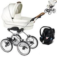 Wózek dziecięcy 3w1 NAVINGTON Caravel Royal + fotelik Cybex ATON 5