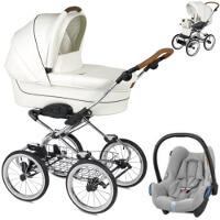 Wózek dziecięcy 3w1 NAVINGTON Caravel Royal + fotelik Maxi Cosi CABRIO FIX