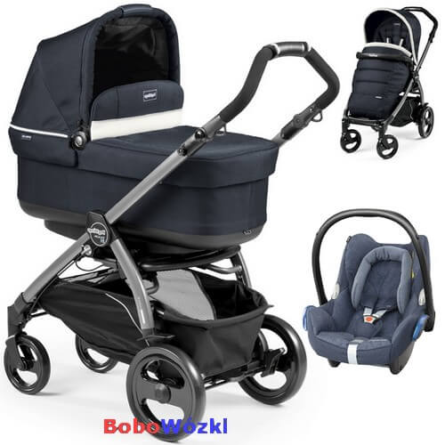 Wózek głęboko-spacerowy PEG PEREGO BOOK 51 POP-UP COMPLETO + fotelik Maxi Cosi CABRIO FIX 1