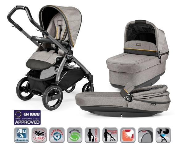 Wózek głęboko-spacerowy PEG PEREGO BOOK PLUS S POP-UP COMPLETO MODULAR + fotelik 3