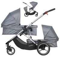 PHIL&TEDS VOYAGER DOUBLE wózek dla dwójki dzieci