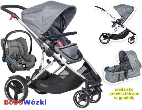 Phil&Teds Voyager z fotelikiem Maxi Cosi
