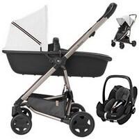 Wózek 3w1 QUINNY RACHEL ZOE ZAPP FLEX PLUS + fotelik Maxi Cosi PEBBLE PRO