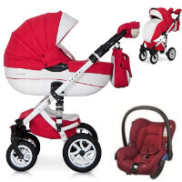 Wózek 3w1 RIKO BRANO ECCO + fotelik Maxi Cosi CITI