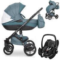 Wózek 3w1 RIKO BRANO NATURAL + fotelik Maxi Cosi PEBBLE PRO