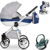 Wózek 3w1 RIKO NANO ECCO + fotelik BeSafe iZi GO MODULAR I-Size