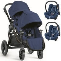 Baby Jogger City Select DOUBLE w�zek spacerowy + 2 foteliki Maxi Cosi CABRIO FIX