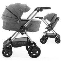 Wózek dziecięcy 2w1 STOKKE SCOOT BLACK MELANGE