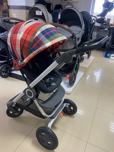 Wózek STOKKE SCOOT | Flannel Red | Winter Kit 3