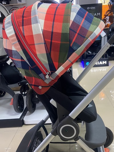 Wózek STOKKE SCOOT | Flannel Red | Winter Kit 4