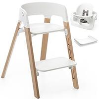 Krzesełko do karmienia STOKKE STEPS + Baby Set + tacka
