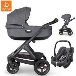 Wózek 3w1 STOKKE TRAILZ + Maxi Cosi PEBBLE PRO