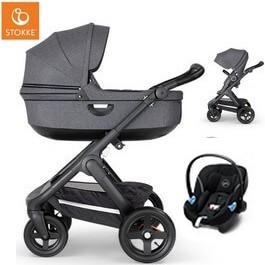 Wózek dziecięcy 2w1 STOKKE TRAILZ + fotelik Cybex ATON M i-Size