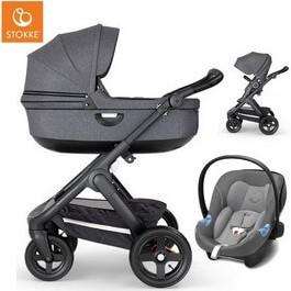 Wózek dziecięcy 2w1 STOKKE TRAILZ + fotelik Cybex ATON M