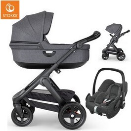 Wózek dziecięcy 2w1 STOKKE TRAILZ + fotelik Maxi Cosi ROCK