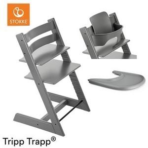 STOKKE TRIPP TRAPP krzesełko do karmienia z tacką i Baby Set