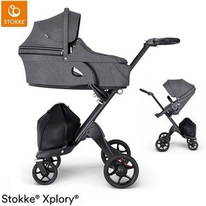 Wózek dziecięcy 2w1 STOKKE  XPLORY V6 BLACK
