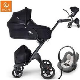 Wózek dziecięcy 3w1 STOKKE XPLORY V6 BLACK + fotelik  iZi GO MODULAR BY BESAFE
