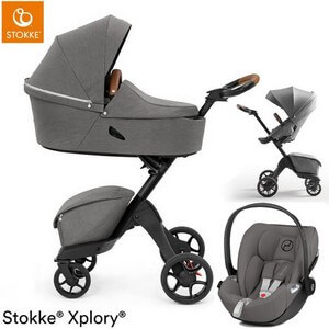STOKKE XPLORY X wózek 3w1 z fotelikiem Cybex CLOUD Z i-Size