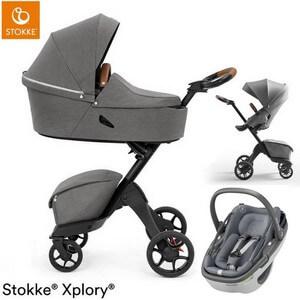 STOKKE XPLORY X wózek 3w1 z fotelikiem Maxi Cosi CORAL