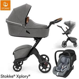 STOKKE XPLORY X wózek 3w1 z fotelikiem Maxi Cosi MARBLE