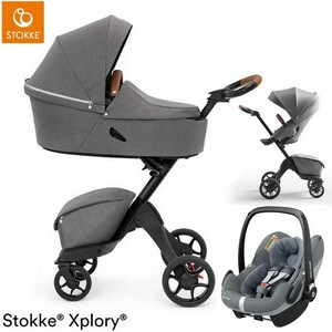 STOKKE XPLORY X wózek 3w1 z fotelikiem Maxi Cosi PEBBLE PRO