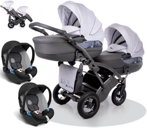 City Move Duo Tako z fotelikami Cybex ATON BASIC