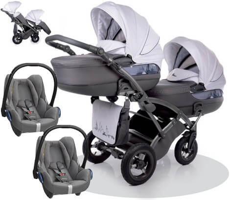 City Move Duo Tako z fotelikami Maxi Cosi Cabrio FIX